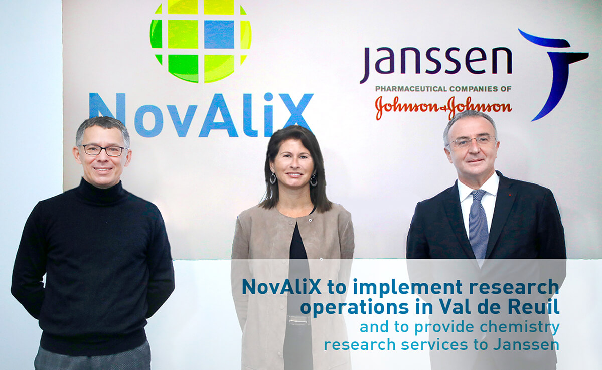 NovAliX to implement research operations in Val de Reuil and to provide chemistry research services to Janssen